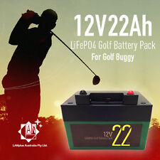 12V 22Ah LifePO4 Lithium Battery >20Ah 4 Electric Golf Buggy Trolley > 36 Holes