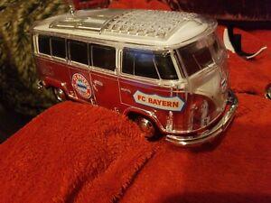 VW T1Kult  BULLI Bus Bluetooth Lautsprecher LED BT,MPR3 Radio FC Bayern München