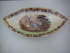 Maling Boat shaped Dish Newcastle on Tyne Scene Transferware Vintage