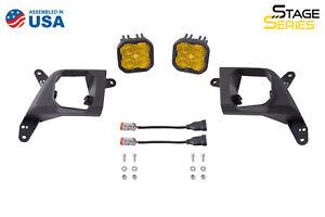 SS3 LED Fog Light for 2019-2021 Chevrolet Silverado 1500 Sport Fog Optic Yellow
