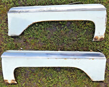 1958 1959 1960 LINCOLN PREMIERE REAR FENDER SKIRTS W/STAINLESS MOLDINGS PAIR