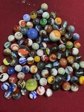 Vintage Assorted Marbles- Huge Lot Of Beautiful Colors-glass-clay-old-swirl