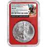 2016 (S) $1 American Silver Eagle NGC MS69 Black Label Red Core