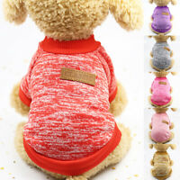 Unisex Pet Warm Sweatshirt Sweater Dog Clothes Jacket Cats Coat Casual Soft