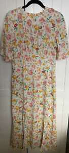 Warehouse Size 12 Angel Sleeve Dress In Floral