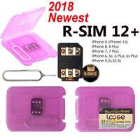 NEW 2018 RSIM 12+ R-SIM Nano Unlock Card fits iPhone X/8/7/6/6S 4G LTE iOS 10 11