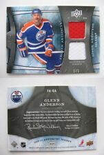 2009-10 UD Artifacts FA-GA Glenn Anderson 1/1 double jersey platinum 1 of 1