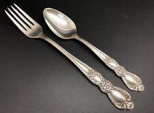 Vintage 1847 Rogers Bros Silverplate HERITAGE Teaspoon & Grille Fork (RF869)