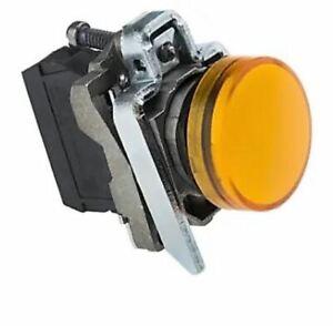 SCHNEIDER XB4 BVB5 Electric Harmony ORANGE LED Pilot Light, 22mm Cutout 24V