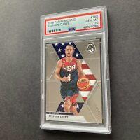 Stephen Curry 2019 Panini Mosaic #260 USA Basketball Card PSA 10 Gem Mint 🔥