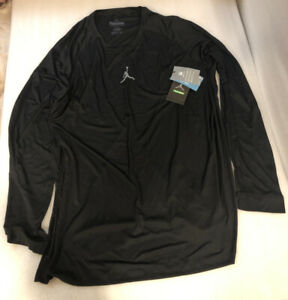 NWT Men's Air Jordan Jumpman Trck/Fld Training Fitted Long Sleeve Shirt
