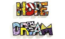 "ROMERO BRITTO ""HOPE DREAM  "" WORD ART SET  AUTHENTIC RETIRED"