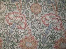 "WILLIAM MORRIS CURTAIN FABRIC DESIGN ""Pink and Rose"" 3.4 METRES EGGSHELL & ROSE"