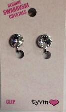 Economy Single Stone 10mm Clip On Clear Earrings