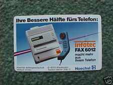 GERMANY 12DM 40u Telefonkarte1989 S02A Hoechst Infotec