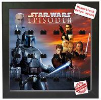 Mini Click Vitrine für 18-24 LEGO Minifiguren Star Wars Episode 2 Pic1