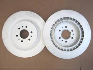 BREMBO OEM 6 Lug Rear Brake Rotors Rotor Cadillac CTS-V 03-07 & STS-V 05-11 Pair
