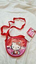 Hello Kitty - Sanrio - Tracollina in PVC Rossa 12x15- Sanrio - Nuovo