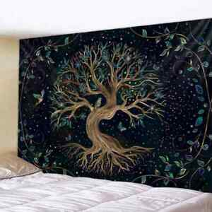 Mysterious life tree Tapestry Mandala Psychedelic Scene Bohemian Wall Hanging ✅✅