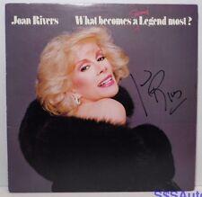 1983 JOAN RIVERS SIGNED AUTOGRAPHED COMEDIAN COMEDY COMIC RECORD ALBUM LP & COA