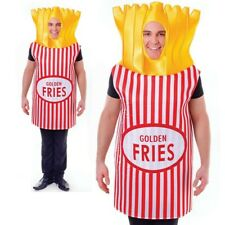 Mens Ladies Adult French Fries Costume Potato Chips Unisex Fancy Dress Outfit Ne