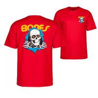 Bones Ripper Powell Peralta Brigade T-Shirt Red Skull OG Skateboard M L XL XXL