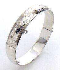 Womens Vintage Sterling Silver Forstner Bangle Bracelet 8in 21.4g H274