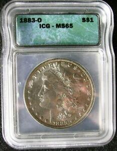 1883-O Morgan Silver Dollar ICG MS-65