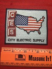 Patch ~ USA FLAG THEM OUTLINE MAP OF US ~ CES CITY ELECTRIC SUPPLY COMPANY C64B