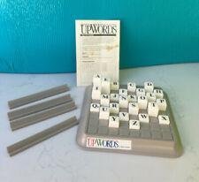 Vintage Upwords Board Game 1988 Complete 3 Dimensional Word Game