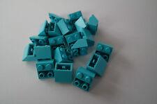 20 Lego Dachsteine Schrägsteine 2x2 negativ invers türkis medium azur NEU 3660