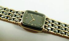 Lassale by Seiko Black & Gold Tone Base Metal 1E50-0C49 Sample Watch NON-WORKING