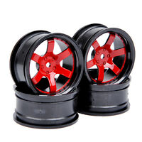4Pcs 1:10 52mm RC Wheel Rim D6NKR 6mm offset For HSP HPI Model On-Road Drift Car