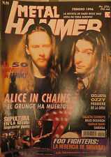 METAL HAMMER:N.99-ALICE IN CHAINS-OZZY OSBOURNE-NAPALM DEATH-FOO FIGHTERS