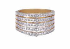 0.57 Cts Round Brilliant Cut Natural Diamonds Spinner Band Ring In Fine 14K Gold