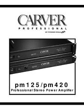 Carver PM-125 Amplifier Owners Manual