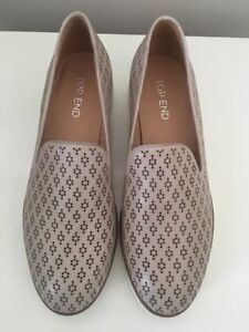 Top End Leather Flats Opod Oyster Size 39 New #34 RRP $169