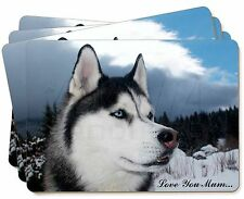 Siberian Husky 'Love You Mum' Picture Placemats in Gift Box, AD-H52lymP