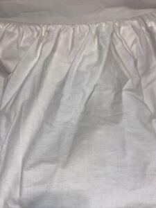 """Ralph Lauren Combed Cotton White Queen Bed Skirt 15"""" Drop"""