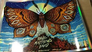 Dave Matthews Band Foil poster - #/100 Charlotte 7/24/2021