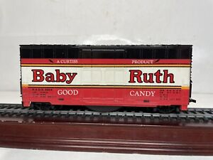 Tyco Ho Scale Model Trains Baby Ruth Candy High Cube Boxcar With Noise Cleaner