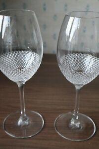 "2 John Rocha ""Lume"" Design by Waterford Crystal Wine Glasses Unused Cond. 23cm"