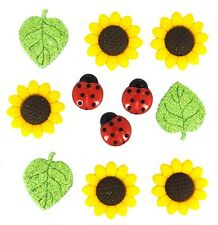 Jesse James Buttons - Dress It Up - Ladybugs - SUNFLOWER 168 ~ Sewing ~ Crafts