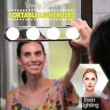 Vanity Mirror Portable Light Bulbs 4 LED Studio Glow Make up Bright Cosmetic