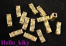 60pcs Antiqued gold plt Greek key spacer beads A337