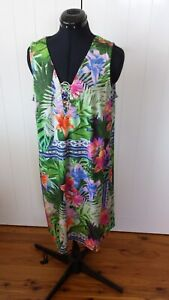 Rockmans multicoloured sleeveless dress Size M Brand new with tags RRP$79.99