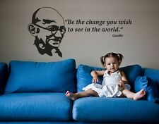 Be the Change You Wish to See in the World - highest quality wall decal stickers