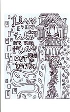 Tangled Birthday Card to Colour Tower Greeting Card to Colour