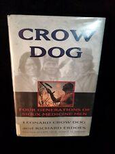 1995 1st ed Crow Dog by Crow Dog, Leonard and Richard Erdoes HC DJ
