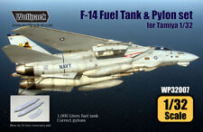 Wolfpack WP32007, F-14 Tomcat Fuel Tank and Pylon set (for Tamiya ) , SCALE 1/32